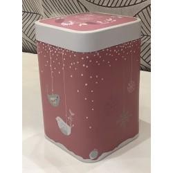 Boîte à thé Noël Rose